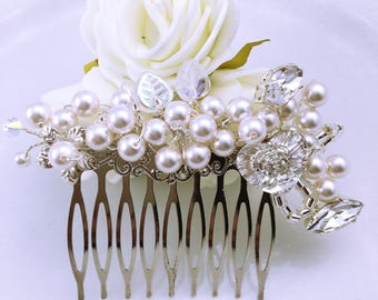 Wedding hair comb Pearl Aude