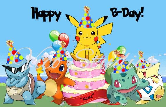 Pikachu happy birthday