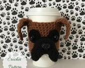 Boxer Dog Pattern, Mug Cozy Pattern, Dog Pattern Crochet, Fun Crochet Pattern, Trending Crochet, Crochet Puppy Pattern, Dog Cozies Pattern