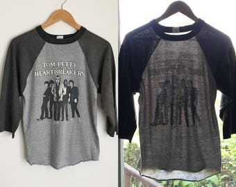 Rare Tom Petty and the Heartbreakers '81 Hard Promises Tour Raglan Baseball Vintage T Shirt Tee  M