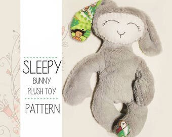 Rabbit Bunny Sewing Pattern with instructions, PDF