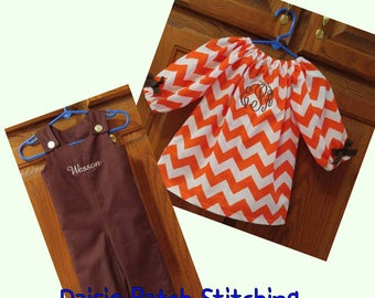 Brother/Sister Matching Set, Twin Outfit Set, Brother/Sister Clothes, Brother/Sister Thanksgiving Outfits, Twin Thanksgiving Outfits