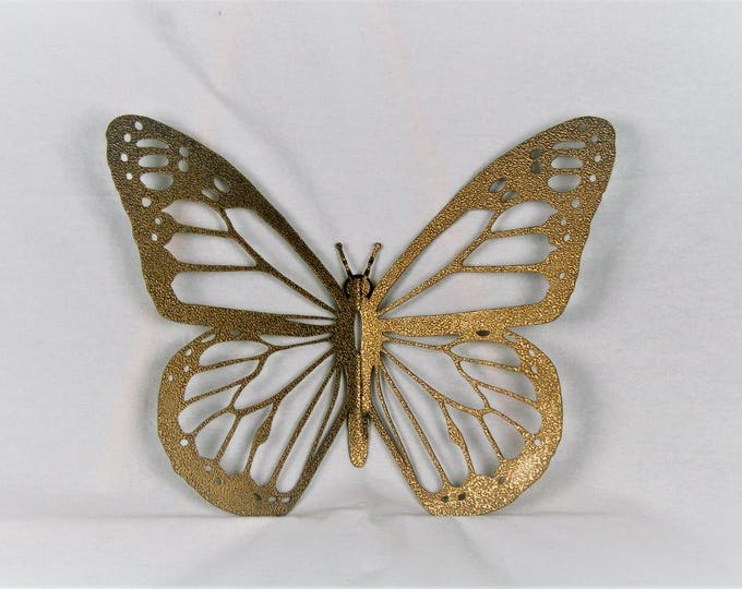 Featured listing image: Gold Monarch Butterfly Wall Art, metal butterfly, monarch wall art, butterfly decor, butterfly garden, monarch butterfly, garden wall decor