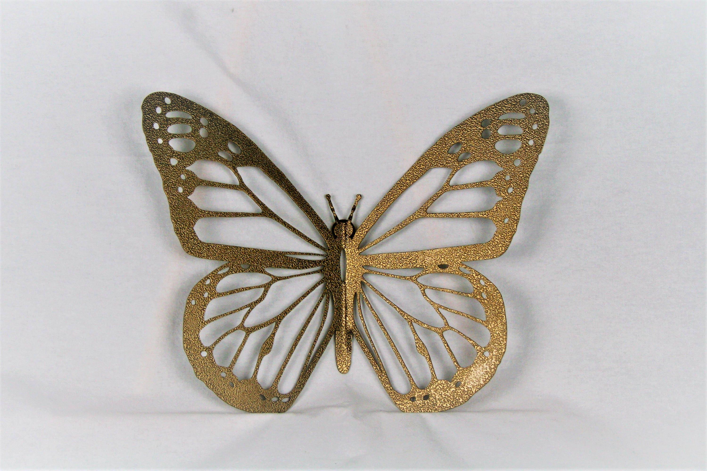 Gold Monarch Butterfly Wall Art, metal butterfly, monarch wall art ...