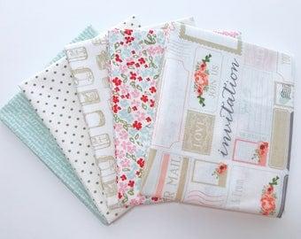 SALE!! 1 Yard Bundle Rustic Elegance by Carta Bella for Riley Blake Designs- 5 Fabrics