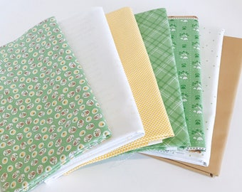 1 Yard Bundle Calico Days by Lori Holt of Bee In My Bonnet for Riley Blake Designs 7 Fabrics