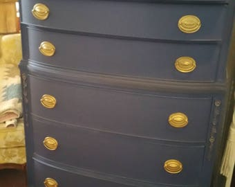 SOLD***Painted highboy dresser