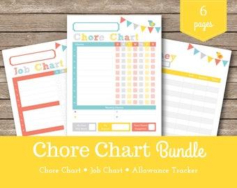 Chore Chart / Sadie / Chalk / Kids Chore Chart / Printable Chore Chart / Reward Charts / Kids Chores / Allowance Tracker