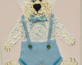 THE TEDDY BEAR  Children Decor Kids Room - Fine Art