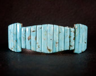 Turquoise Stone Watch Band Bracelet