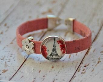 Cork and glass bracelet Paris
