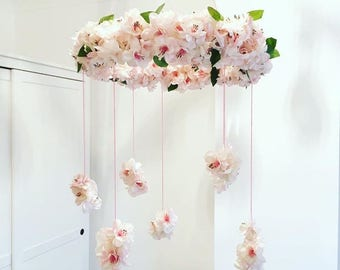 Handmade Artificial Flower Baby Mobile
