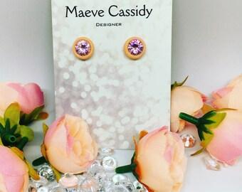 Sterling silver stone set earrings