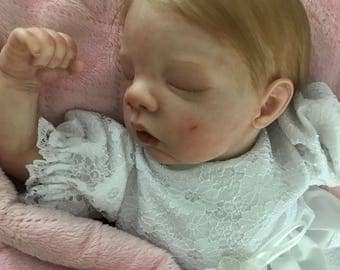 Reborn Baby / READY TO SHIP / Preemie Reborn / Reborn Baby Girl / Reborn Doll / 16 inch Vinyl Doll / Realistic Baby Doll / Collectible Doll
