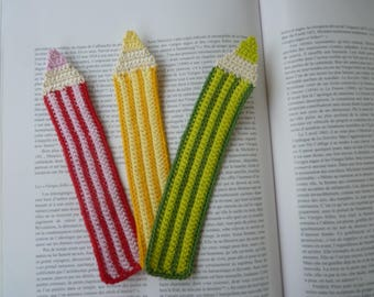 Bookmark pencil crochet crochet cotton