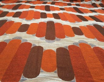 Vintage 70s Fabric 50 x 100 cm geometric rod