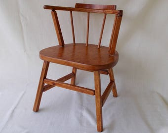 Wooden Youth Chair, Doll Chair, Vintage 1950's