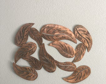 Group of leaves  -  leaves -  wall art  - metal wall art  - home decor