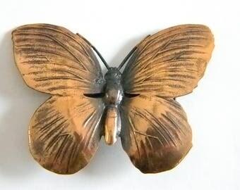 Pretty Copper Butterfly Pin Brooch