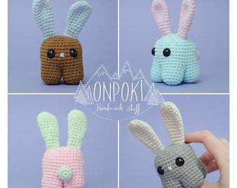 CANDY BUNNY - mini bunny crochet handmade amigurumi - Choose between 32 colors!