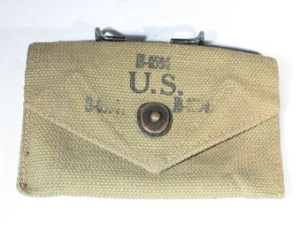 MINT 1943 US Military Belt Pouch, First Aid, Medical Kit, Belt Clip, Military Collectibles, Army Surplus, WWII