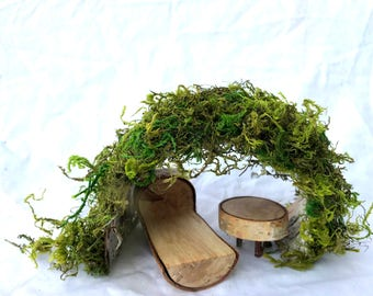 Fairy Hut, Gnome Hut, Dollhouse, Moss Hut, Waldorf, Natural Toy