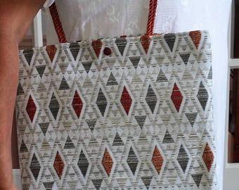 "Beautiful large ""diamond"" bag very trendy for you follow"