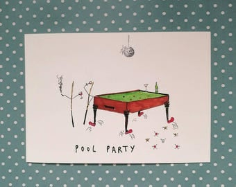 POOL PARTY Pun Card for Any Occasion by Polly Baker