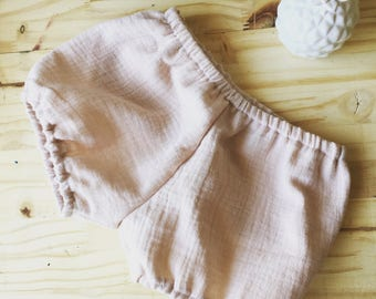 Bloomer, baby, panties, double gauze, baggy shorts