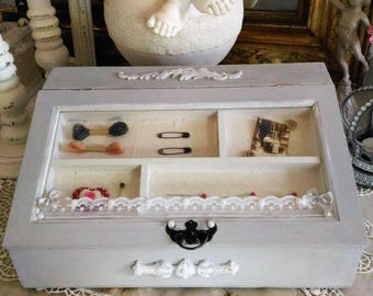 Sewing box or haberdashery shabby chic style
