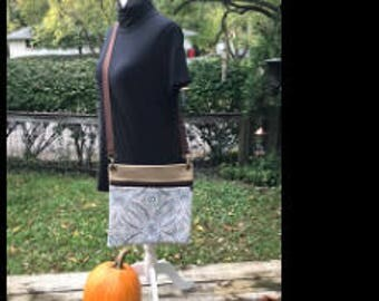 Canvas crossbody bag, cross body bag, womans bag, woman's crossbody bag, brown bag, tan bag
