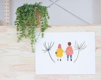 A4 printed illustration   Together