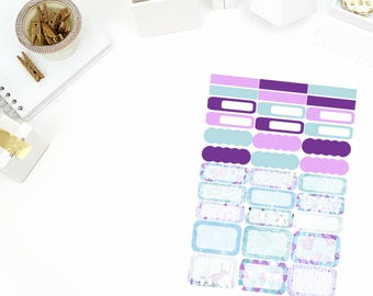Glitzy Winter Functional Stickers! Perfect for your Erin Condren Life Planner, calendar, Paper Plum, Filofax!
