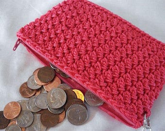 Charming Coin Purse w/ Wrist Strap in black -- made to order