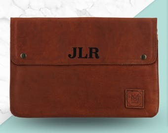 "Leather Macbook Laptop Case/Sleeve - *Personalised* by MAHI Leather - Macbook, Macbook Pro, Pro Retina, and Air (11"", 12"", 13"", 15"")"