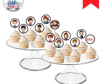 Stranger Kids Cupcake Toppers, Stranger Birthday, Stranger Birthday Party, Strange Birthday Party