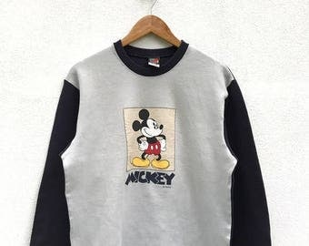 20% OFF Vintage Mickey Mouse Pullover / Mickey Mouse Sweater / Mickey Mouse Disney / Cartoon Shirt / Mickey Mouse Big Print / Armpit 22.5""