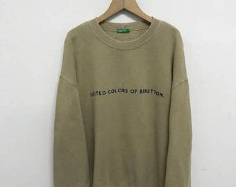 20% OFF Vintage United Colors Of Benetton Sweatshirt/Benetton Sweater/Benetton Spellout