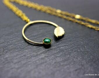 graphic pendant, leaf pendant
