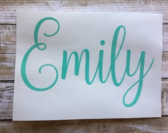 Custom Name Sticker, Decal, Vinyl, First or Last Name or Word of Choice, Custom, Monogram, Quick & Cheap Shipping