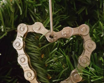 Bicycle Chain Heart Ornament