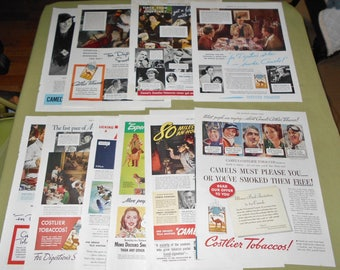 11 Camel Cigarette Magazine Ad Pages 1930s 1940s