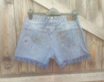 Custom Denim Levi Shorts