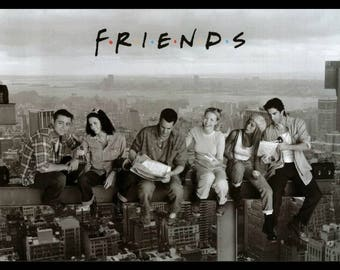 Friends - On a Skyscraper Framed Poster