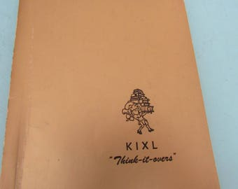 """KIXL """"Think-It-Overs"""" Volume Two by Lee Segall 1952 Free Shipping"""