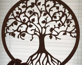 Charming Tree Of Life Wall Art   Raw Wood Home Decor   Laser Cut Wood. Wall Part 26