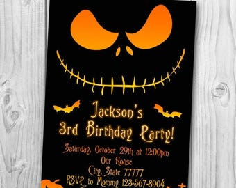 The Nightmare Before Christmas Invitation - Halloween invitation - The Nightmare Before Christmas Birthday Party