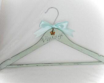 Personalized bride hanger Pistachio hanger ribbon Bridal hanger personalized Mrs Hanger Bride gift Idea Hanger decal Hanger for designer