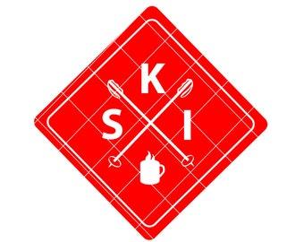 Ski svg - ski decal - ski sign - ski digital download