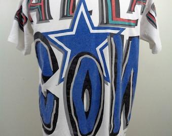 1993 Dallas Cowboys Apex One All Over Print NFL Emmit Smith Tshirt sz Large